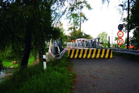 Most na silnici III. třídy, Lužec nad Vltavou. Pramen: ŘVC