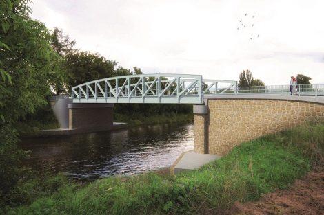Nový most na silnici III. třídy, Vrbno, vizualizace. Pramen: ŘVC