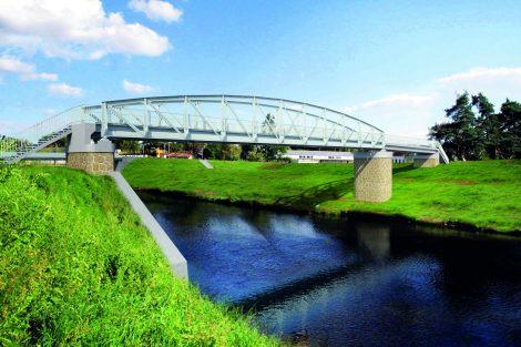 Most bývalé polní dráhy po modernizaci, Ústřední čistírna odpadních vod. Vizualizace. Pramen: ŘVC