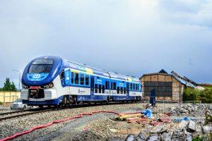 RegioShark na trase přesmyku domažlické trati. Foto: Jan Sůra