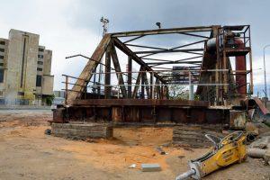 Faltusův most, který při stavbě přesmyku domažlické trati zcela zmizí. Foto: Jan Sůra