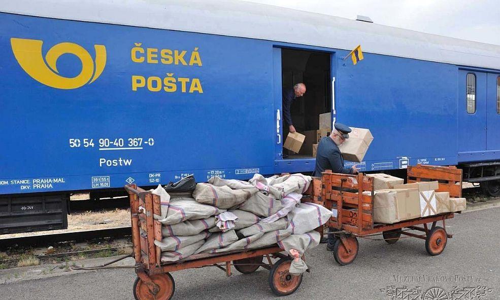 Vlaková pošta. Pramen: Muzeum vlakové pošty (www.vlakovaposta.cz)
