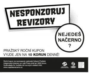 Jeden z obrázků nové kampaně proti cestujícím bez jízdenky. Foto: DPP