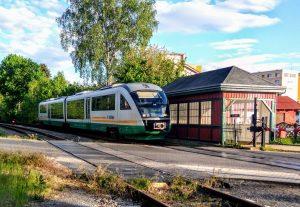 Siemens Desiro společnosti Die Länderbahn v Hrádku nad Nisou. Foto: Jan Sůra