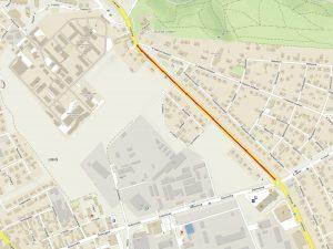 Mapa uzavírky Vídeňské ulice. Foto: TSK
