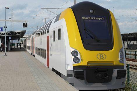 Nová jednotka pro belgické dráhy od sdružení Alstom/Bombardier. Vizualizace. Pramen: Alstom