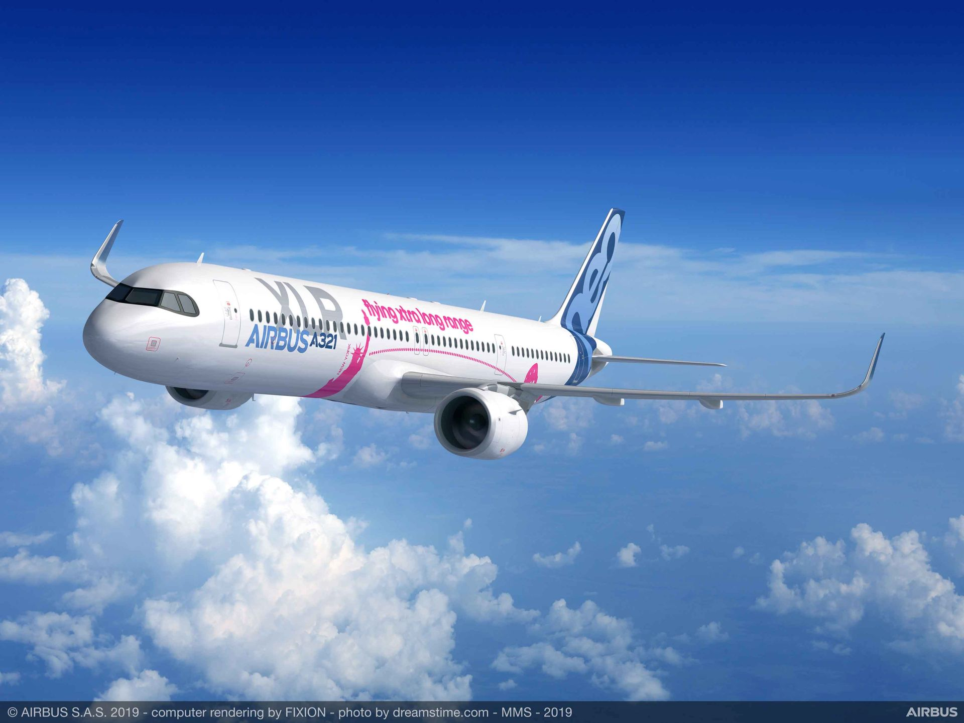 Vizualizace nového letadla A321XLR. Foto: Airbus