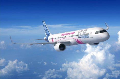 Airbus A321XLR na počítačové vizualizaci. Foto: Airbus