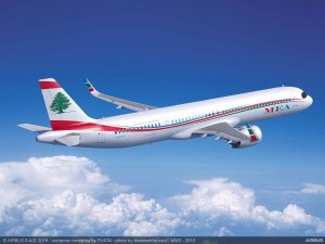 A321XLR v barvách Middle East Airlines. Foto: Airbus