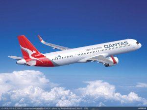 A321XLR v nátěru pro Qantas. Foto: Airbus