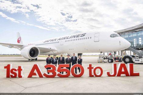 Předávací ceremoniál nového letadla A350-900 v Toulouse. Foto: Airbus