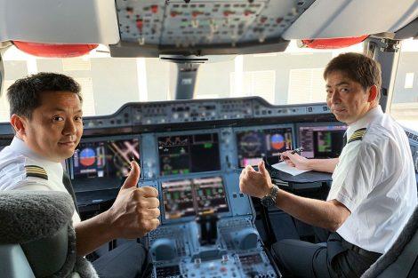 Piloti JAL před odletem z Toulouse. Foto: JAL