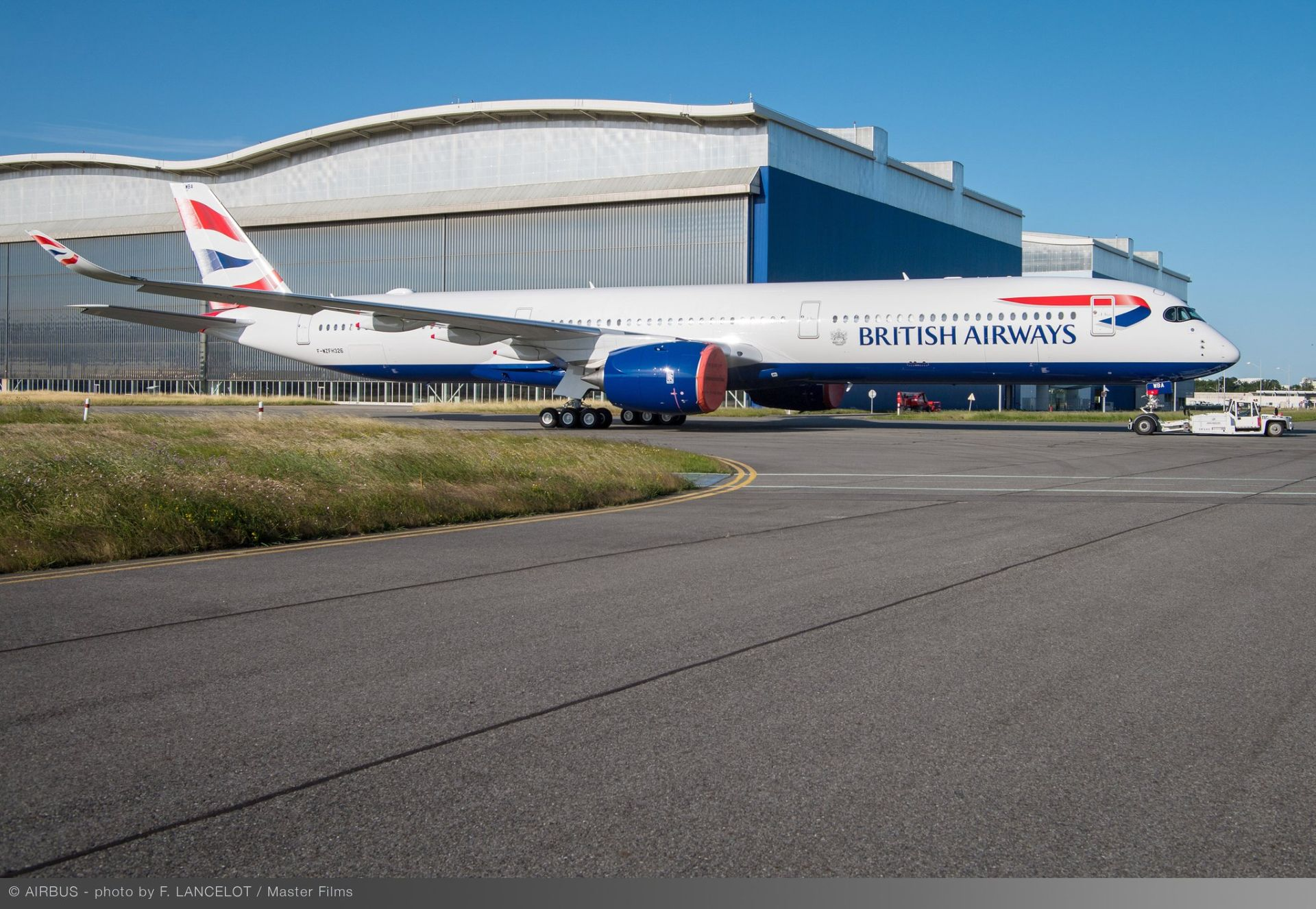 A350-1000 po výjezdu z lakovny v Toulouse v barvách British Airways. Foto: Airbus