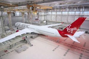 A350-1000 v lakovně Airbusu v Toulouse. Foto: Virgin Atlantic