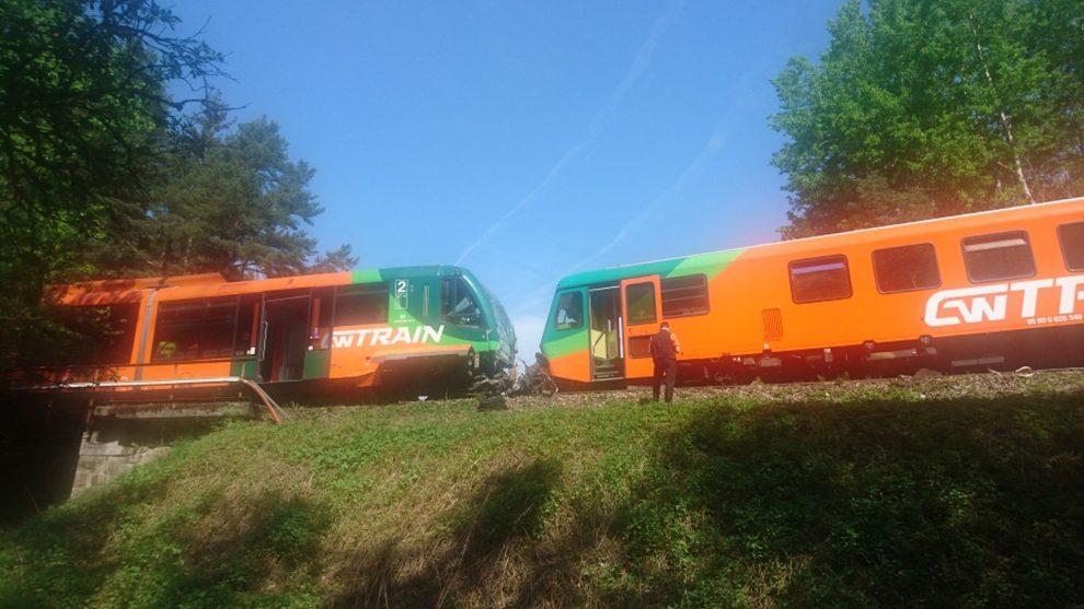 Srážka vlaků u Křemže. Foto: Drážní inspekce