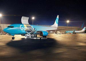 Boeing 737-800 přestavěný do nákladní verze BCF. Foto: Gecas
