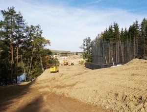 Stavba koridoru v úseku Sudoměřice - Votice. Autor: Petr Špetlák