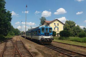Stanice Týn nad Vltavou. Pramen: Vltavotýnská lokálka z.s.