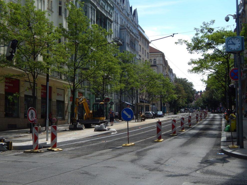 Vinohradská ulice v rekonstrukci. Autor: Zdopravy.cz/Jan Šindelář