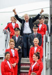 Šéf Virgin Atlantic Richard Branson po oznámení nákupu A350 v roce 2016. Foto: Airbus