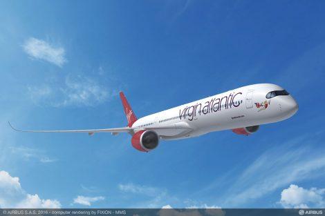 Airbus A350 - 1000 v barvách Virgin Atlantic. Foto: Airbus