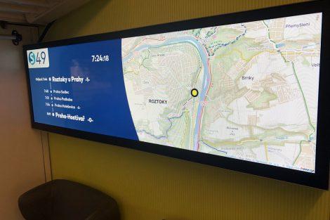 Informační systém ukazuje i přesnou polohu vlaku. Foto: Arriva