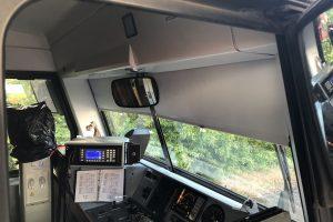 Stanoviště strojvedoucího v jednotce 845.2. Foto: Arriva