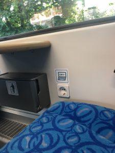 Kromě bezdrátového připojení k internetu budou mít cestující možnost dobíjet během cesty svá elektrická zařízení. Foto:  Arriva