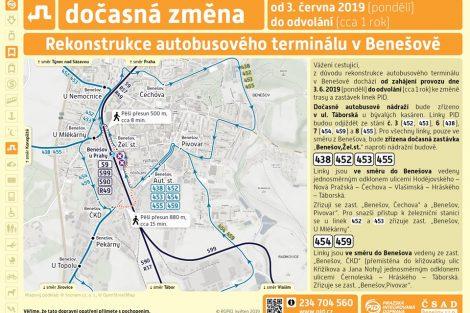 Přehled změn ve veřejné dopravě kvůli rekonstrukci autobusového nádraží v Benešově