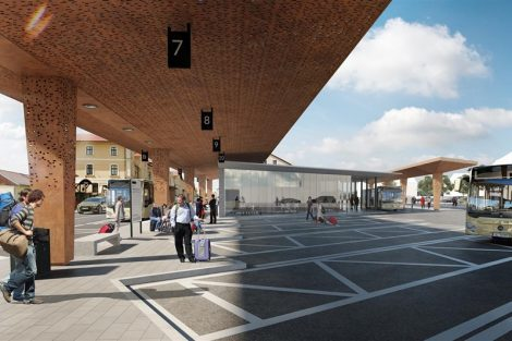 Vizualizace nového terminálu v Benešově. Foto: www.benesov-city.cz