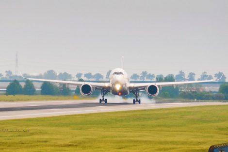 Airbus A350 poprvé v Praze. Foto: Rosťa Kopecký / Flyrosta.com