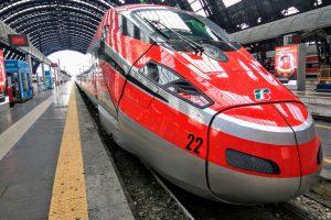 Jednotka FrecciaRossa 1000 v Miláně. Foto: Jan Sůra