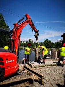Zahájení modernizace zdymadla Hořín.  Autor: ŘVC