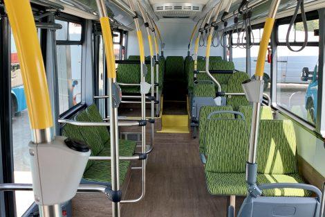 Interiér autobusu EBN11. Foto: Arriva