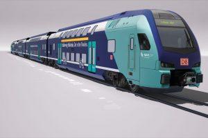 Stadler Kiss v barvách pro DB Regio pro provoz ve Šlesvicku - Holštýnsku. Foto: Stadler
