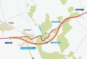 Trasa nového obchvatu Lechovic. Foto: ŘSD