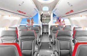 Vizualizace interiéru Boeingu 737-800 v barvách Malta Air. Foto: Ryanair