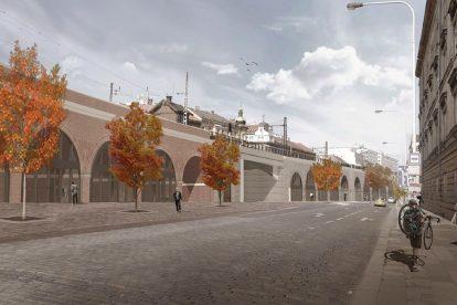 Vizualizace využití oblouků Negrelliho viaduktu. Foto: Praha.eu