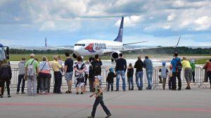 Boeing 737-800 v Ostravě. Foto: Letiště Ostrava