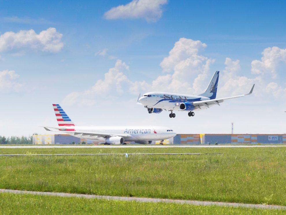 Boeing 737-70 SCAT Airlines přistává v Praze. Foto: FlyRosta.com