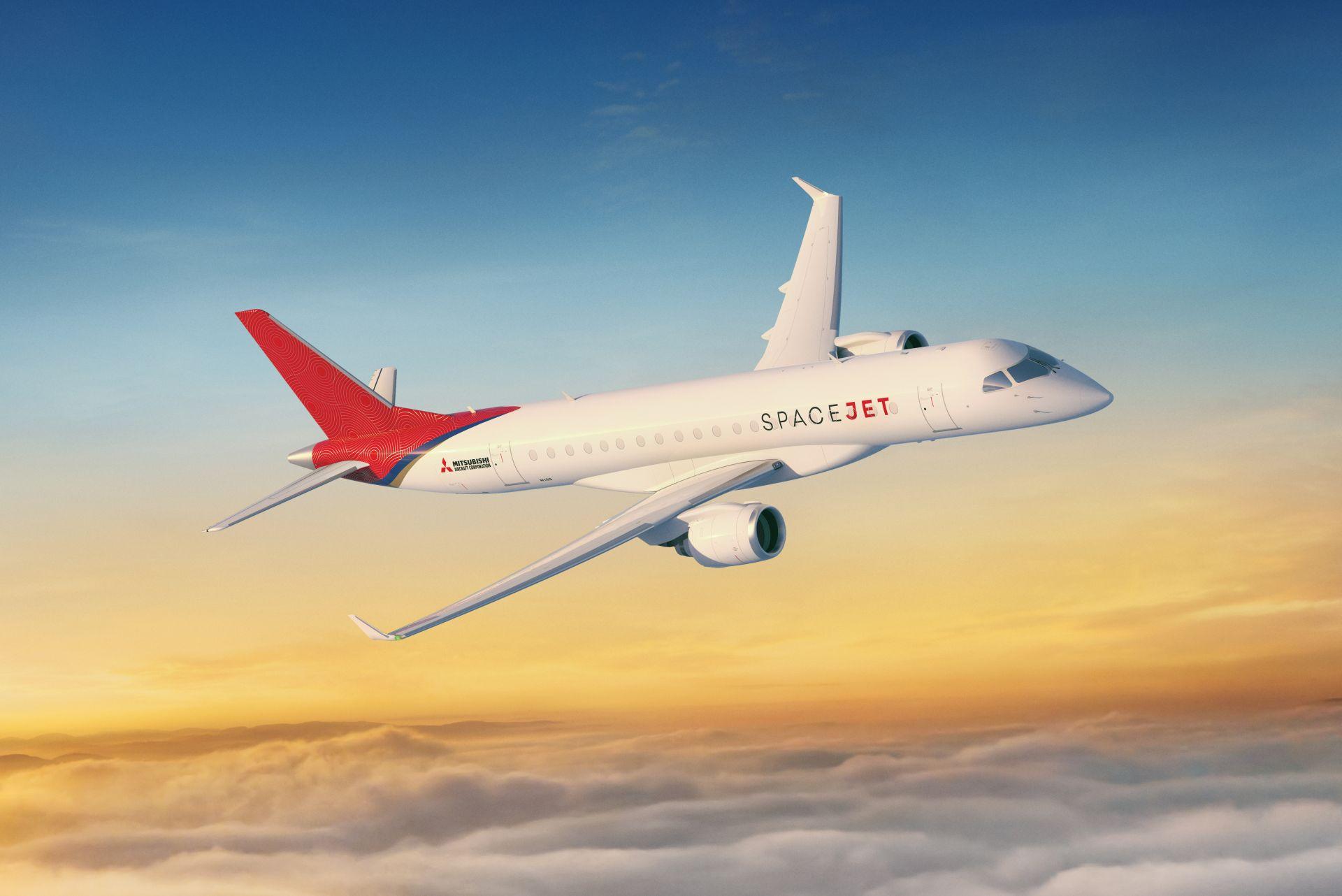 SpaceJet M100, nové regionální proudové letadlo. Foto: Mitsubishi