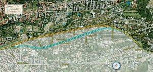 Varianty raženého tunelu Dejvice - Veleslavín. Pramen: SŽDC