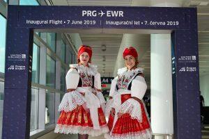 Ze slavnostního zahájení linky United Airlines Praha - Newark. Foto: Letiště Praha
