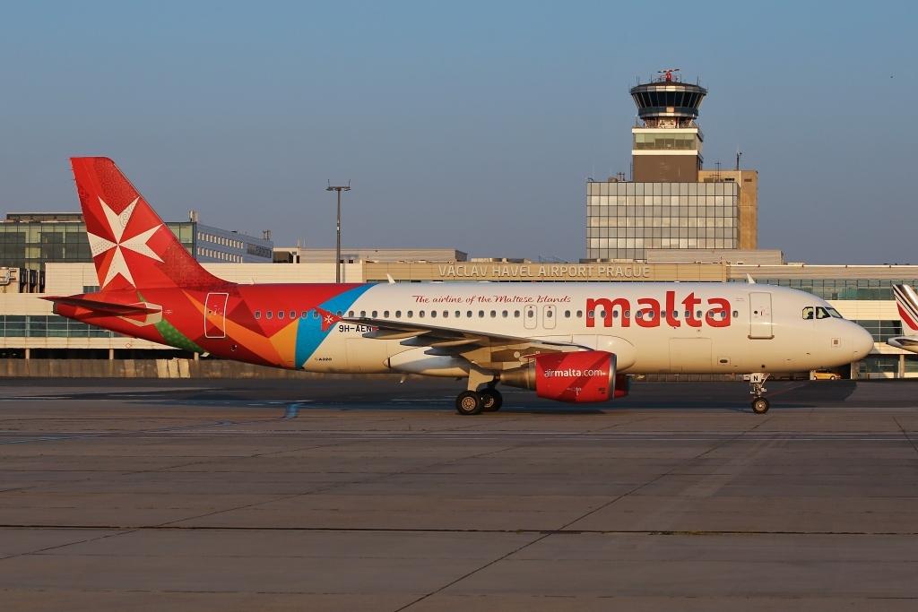 Letadlo Air Malta v Praze. Autor: Letiště Praha