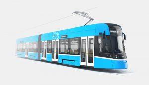 Vizualizace tramvaje Škoda ForCity Smart pro Ostravu. Foto: DPO