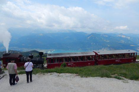 Pohled z hory Schafberg na jezero Wolfgangsee. Autor: Zdopravy.cz/Jan Šindelář