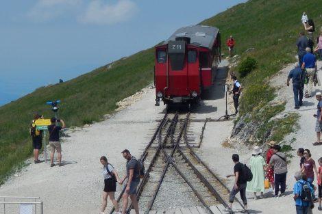 Konečná SchafbergBahn ve výšce 1732 metrů. Autor: Zdopravy.cz/Jan Šindelář