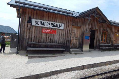 Zastávka Schafbergalm ve výšce 1363 m.n.m. Autor: Zdopravy.cz/Jan Šindelář