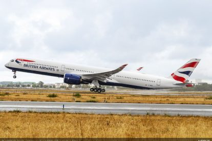 Airbus A350-1000 British Airways při odletu z Toulouse. Foto: Airbus