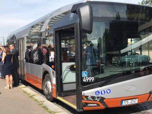 Hybridní autobus Solaris Urbino na testování v DPP. Foto: DPP